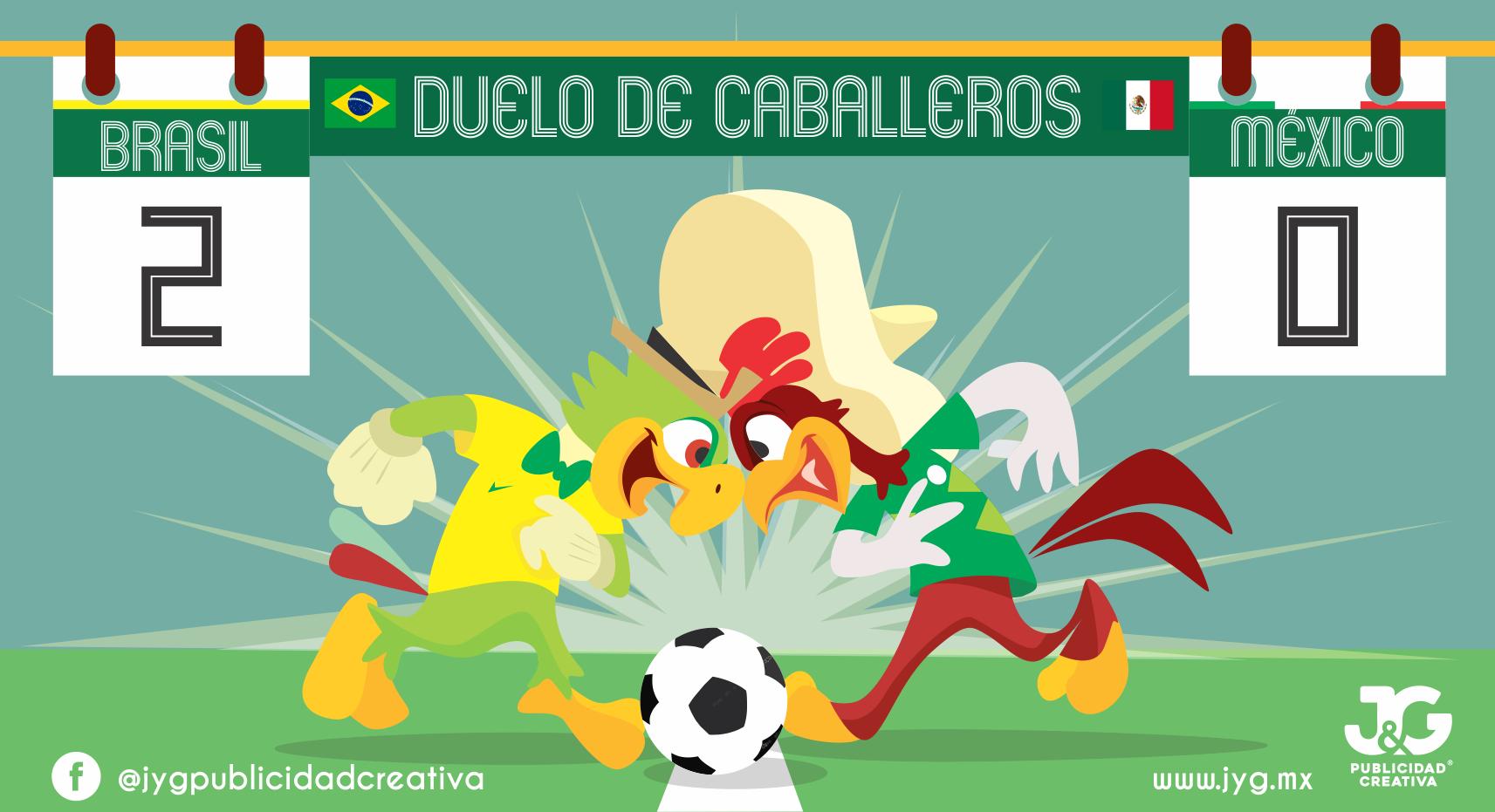 Resultado del partido Brasil- México. Duelo de Caballeros. 🇧🇷 ️🇲🇽