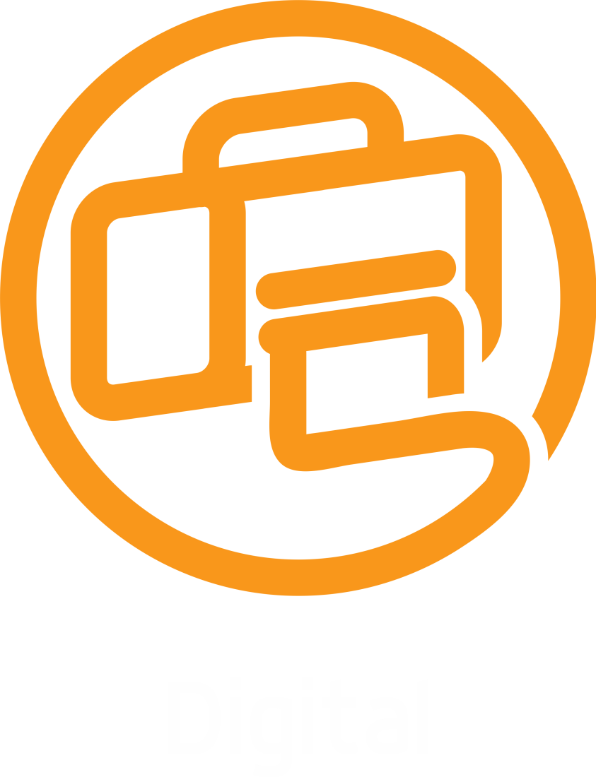 digital boton naranja web