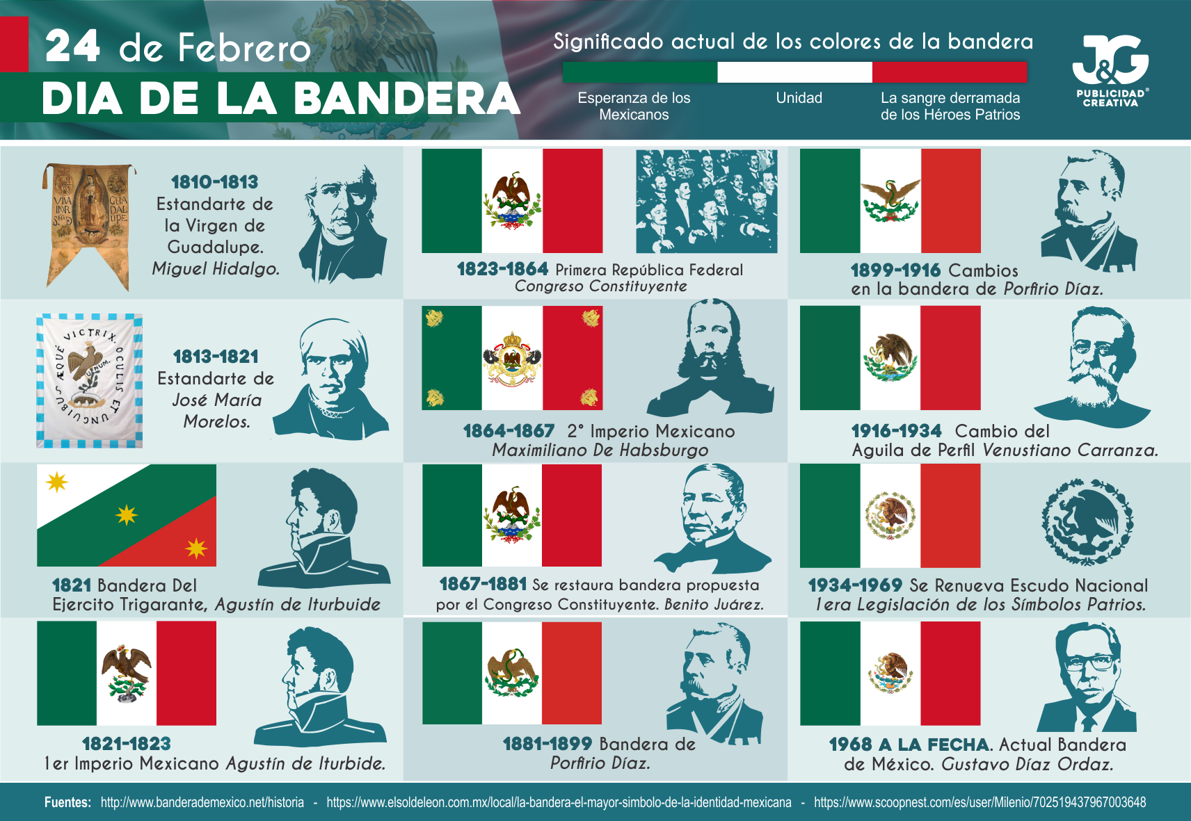 24 de Febrero Día de la Bandera Mexicana 2018