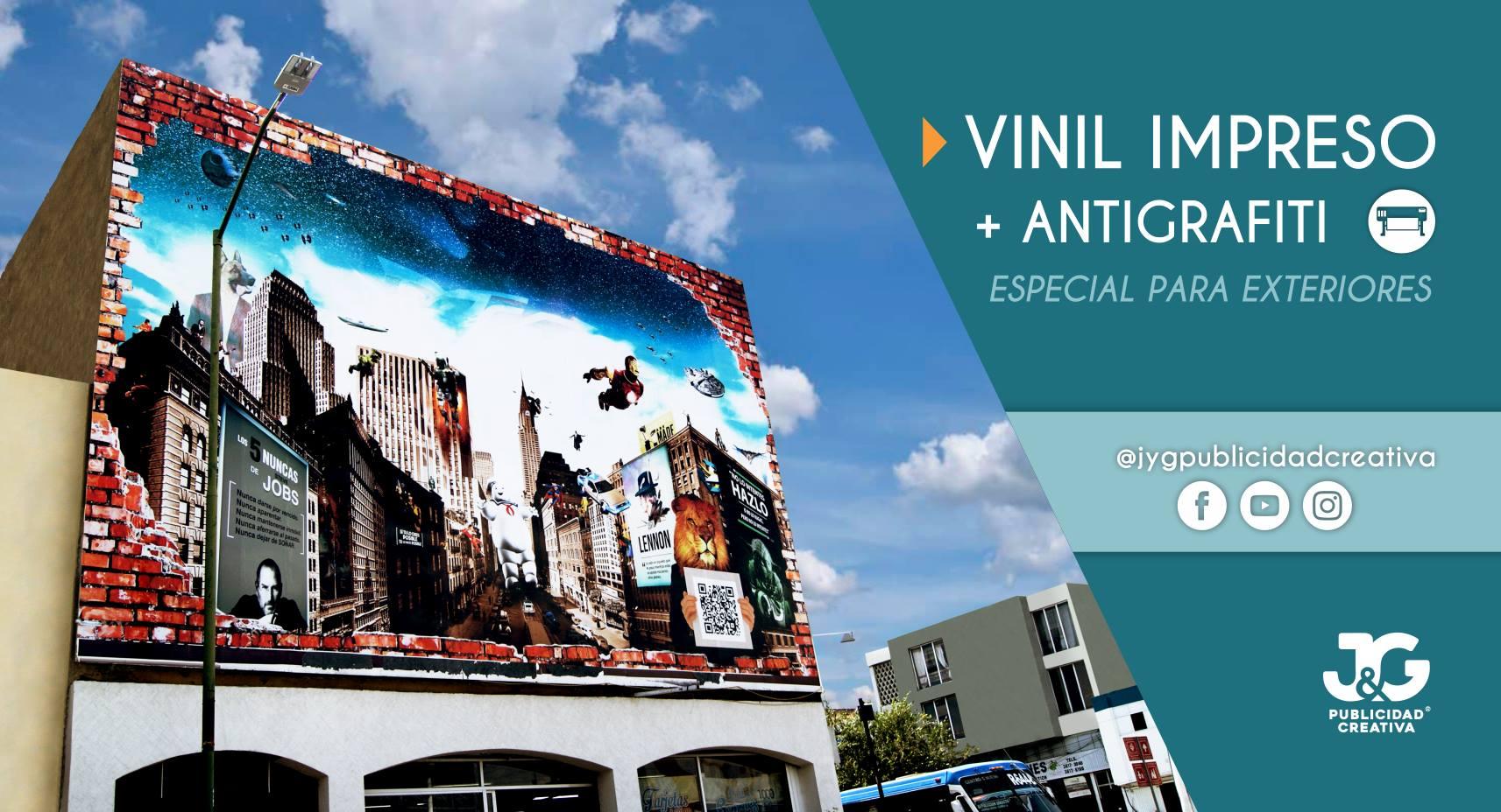 Vinil impreso + Antigraffiti