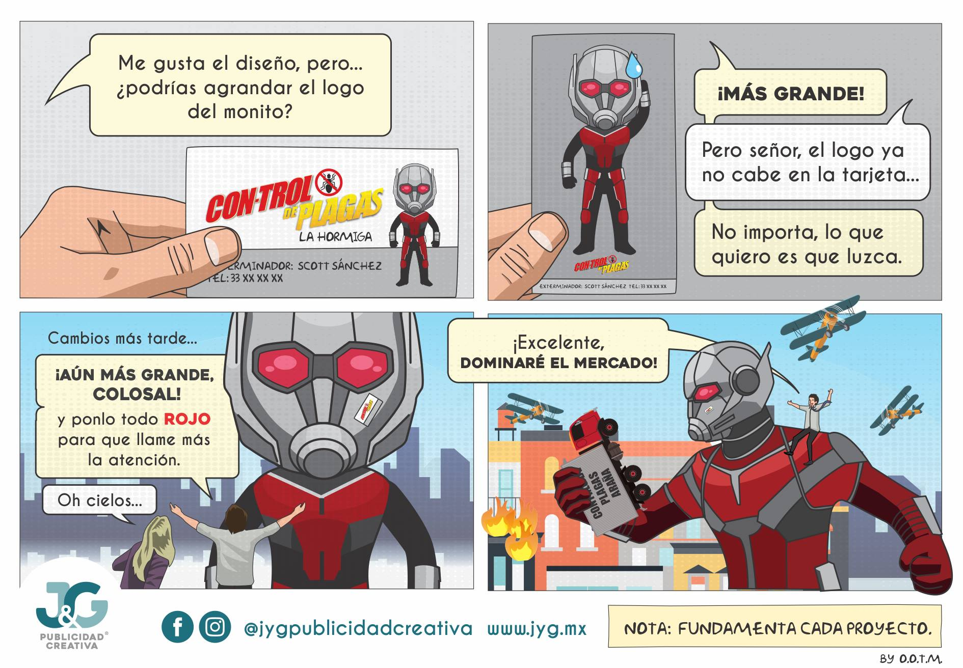 Ant-Man JyG Publicidad Creativa