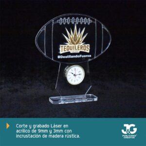 Modelo Balon - Reloj hecho en acrílico y madera