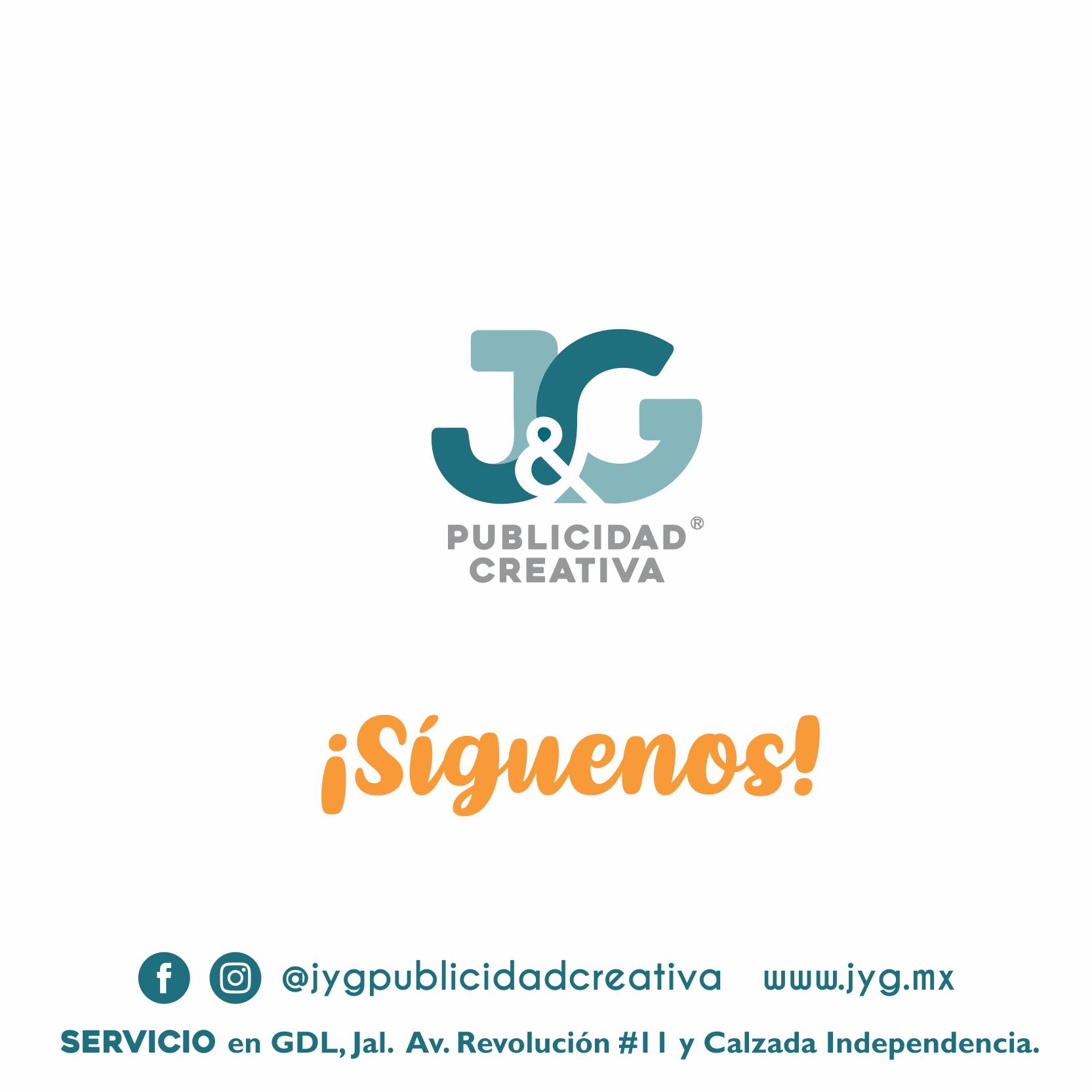 Síguenos - JyG Publicidad Creativa